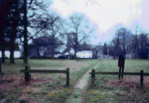 Early Colour Photograph of the Footpath across the Green